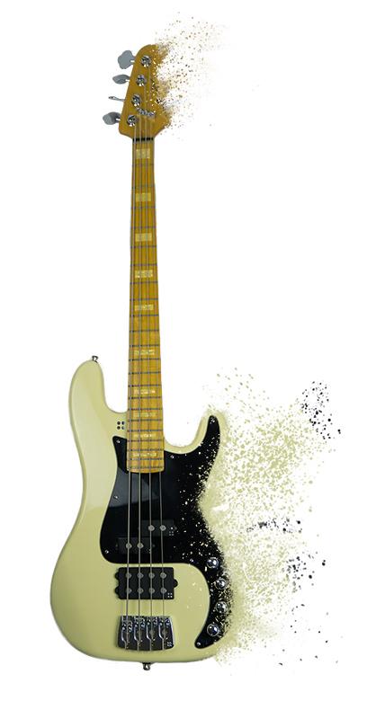 Bild: Bass mit Partikel Effekt