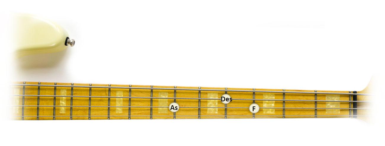 Des-Dur-Dreiklang-Griffbrett-1
