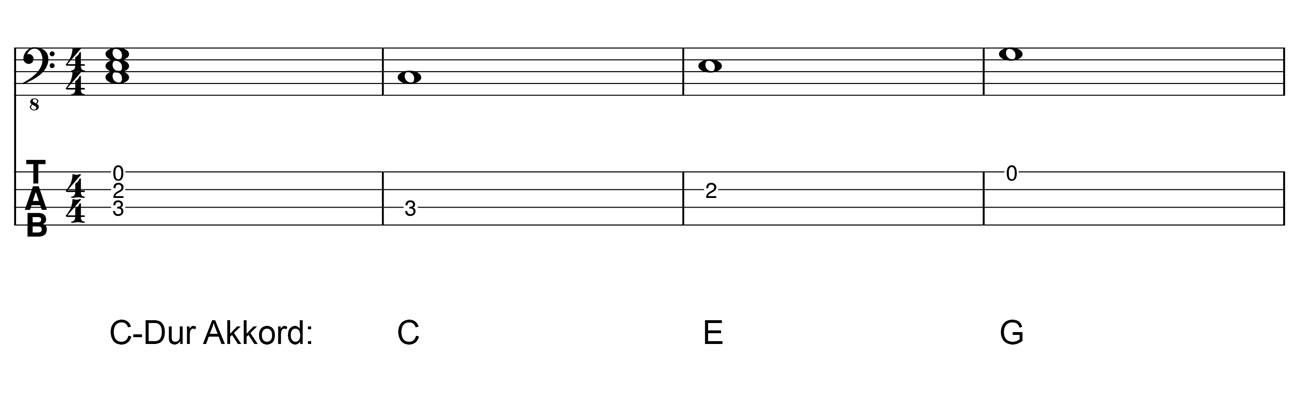 Dreiklang-C-Dur-Akkord