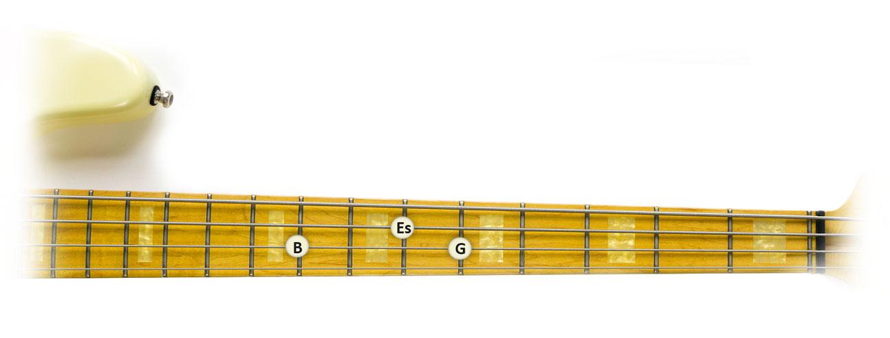 Es-Dur-Dreiklang-Griffbrett-1