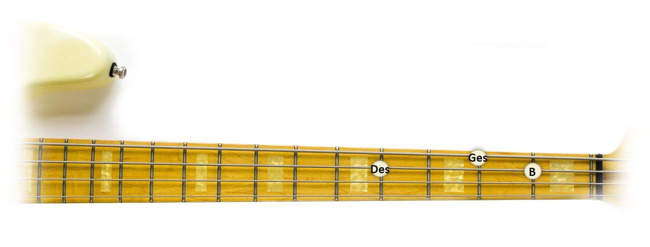Ges-Dur-Dreiklang-Griffbrett-1