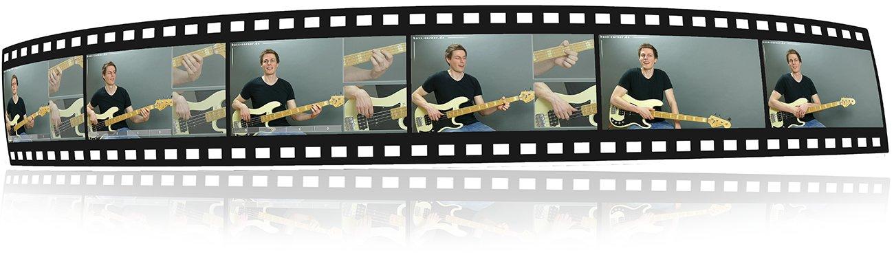 Bild: Bass-Lernen mit Videos - Filmstreifen making of bass-corner